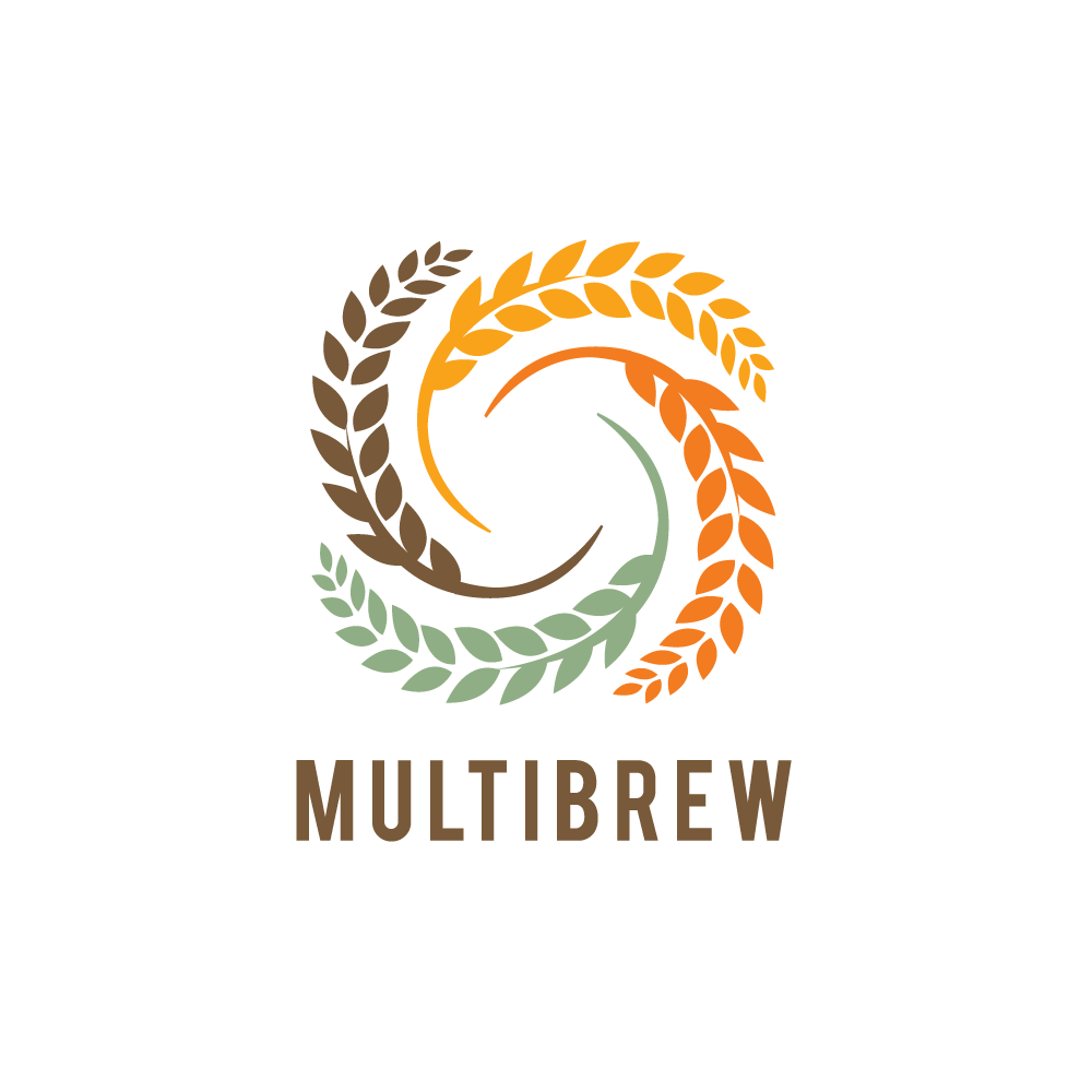 SOLD LOGO – Multibrew—Hops and Ears of Wheat Logo Design | Logo Cowboy