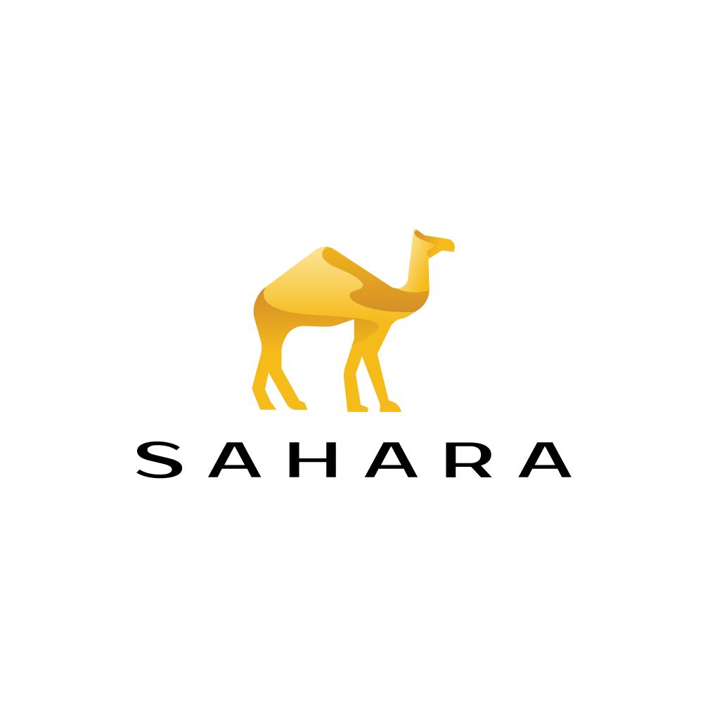 Sold Logo Sahara Sand Dune Camel Logo Logo Cowboy