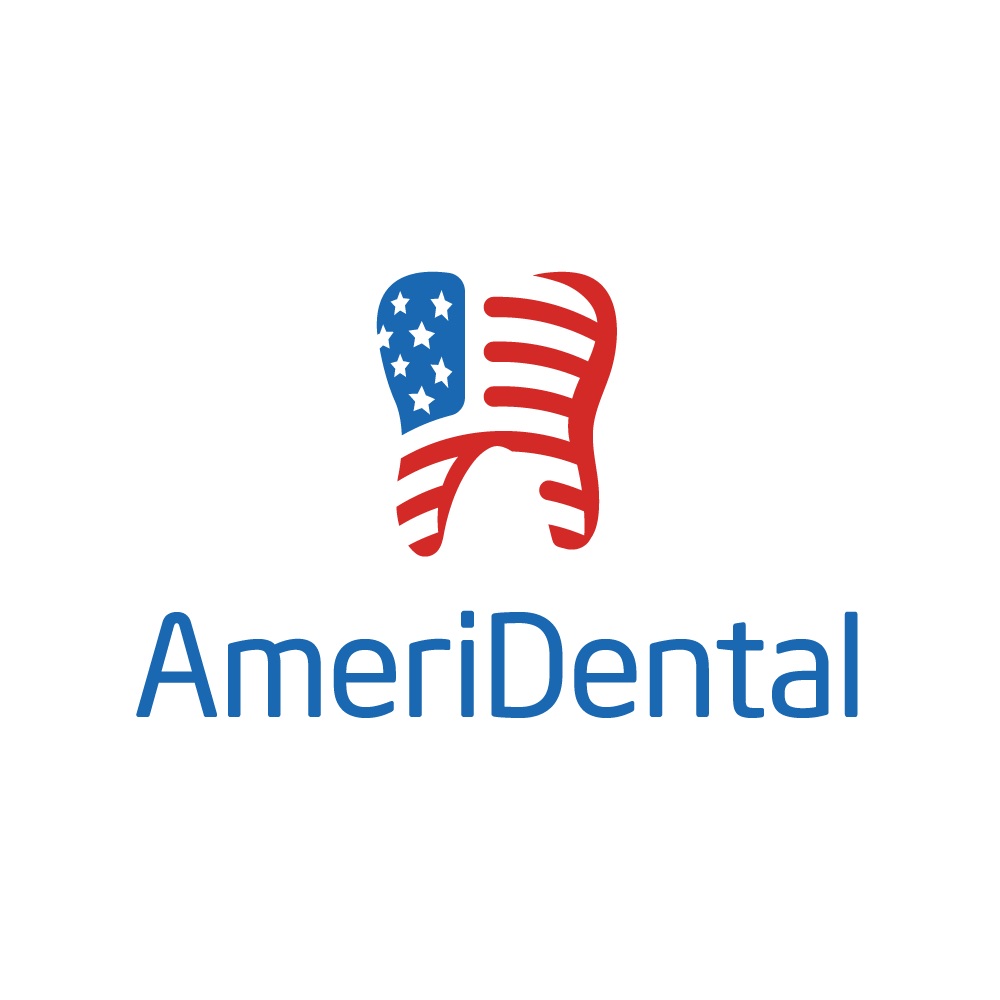 ameridental tooth flag logo design logo cowboy