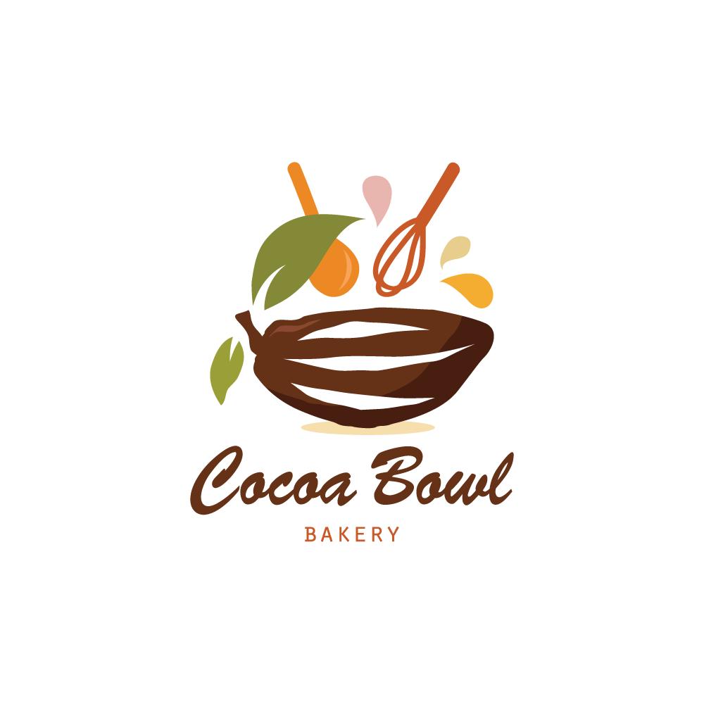 cocoa bowl bakery logo design  u2013 logo cowboy