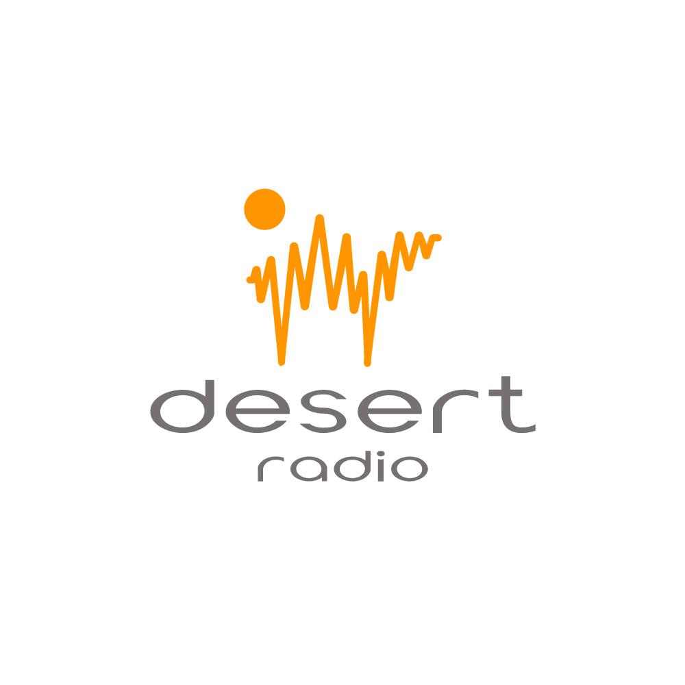 desert radio�camel sun logo design logo cowboy