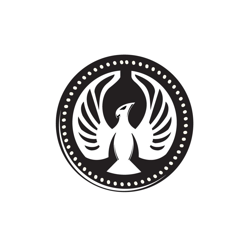falcoin phoenix hawk falcon logo design logo cowboy