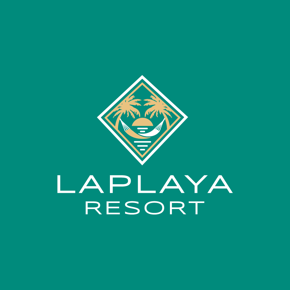 logo for sale�laplaya beach resort logo design logo cowboy