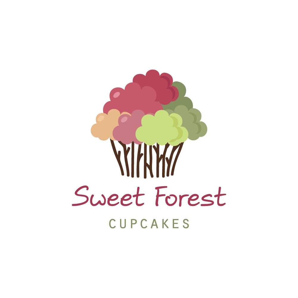 sweet cupcake forest logo design logo cowboy