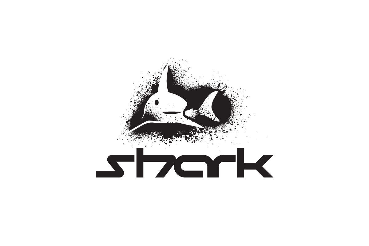 For Sale: Spray Paint Effect Shark Logo