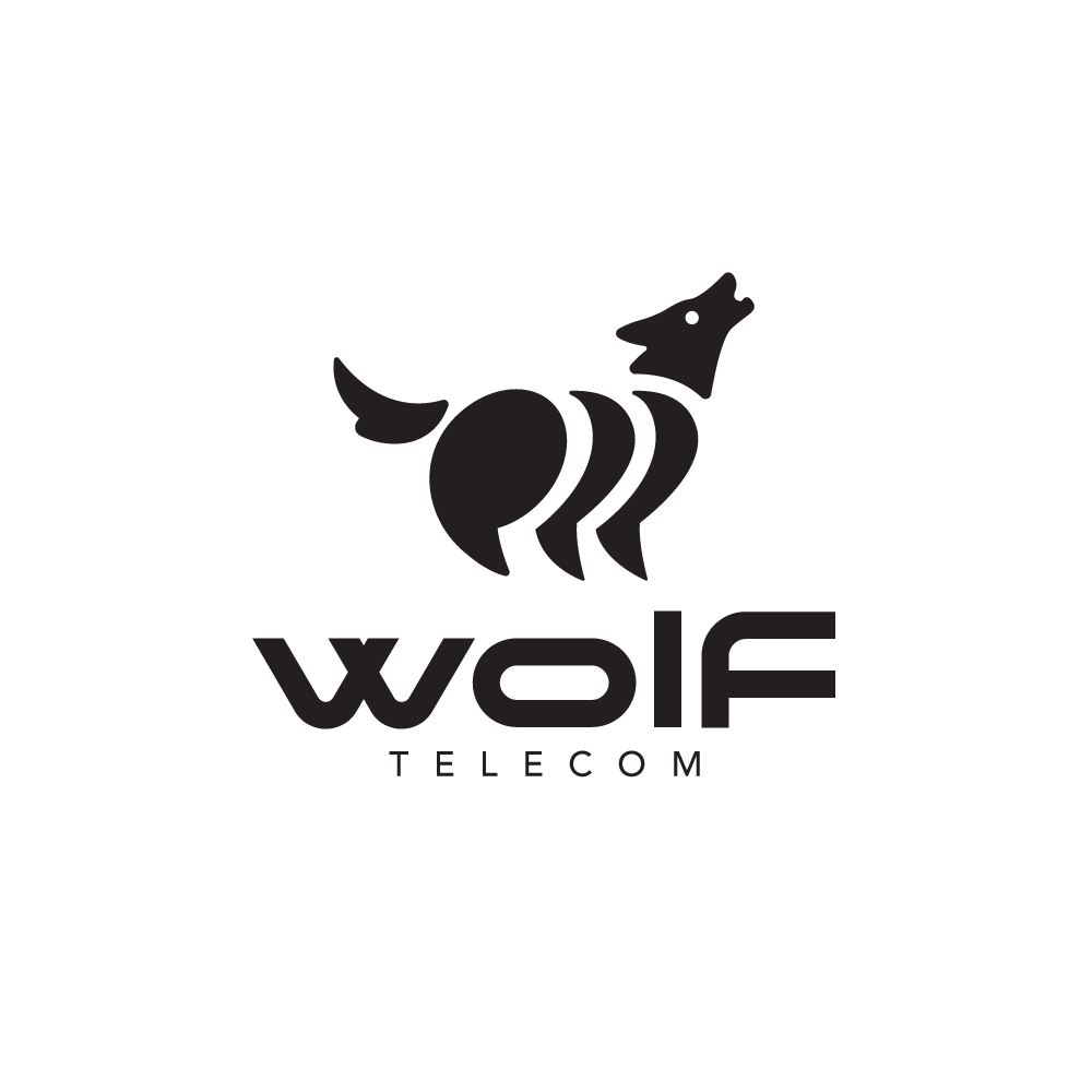Sold wolf telecom speech bubbles logo design logo cowboy for Design lago