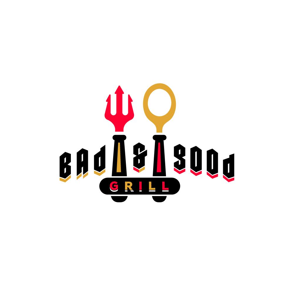 for sale bad and good � restaurant logo design logo cowboy