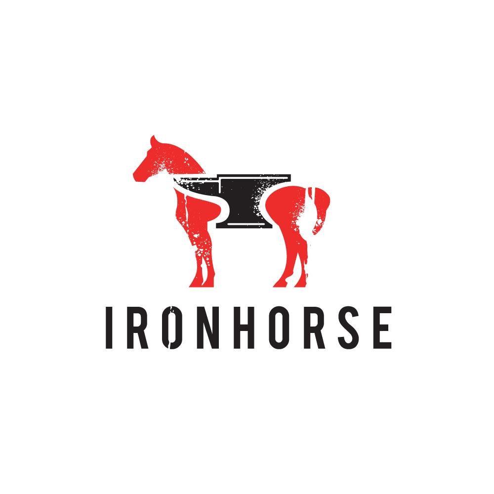 Sold Iron Horse Horse And Anvil Logo Design Logo Cowboy