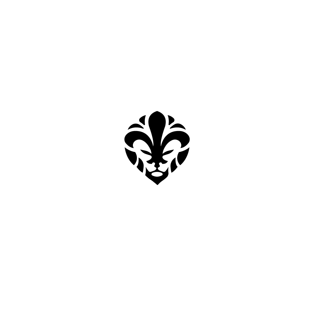 sold fleur de lio lion fleur de lis logo design logo. Black Bedroom Furniture Sets. Home Design Ideas