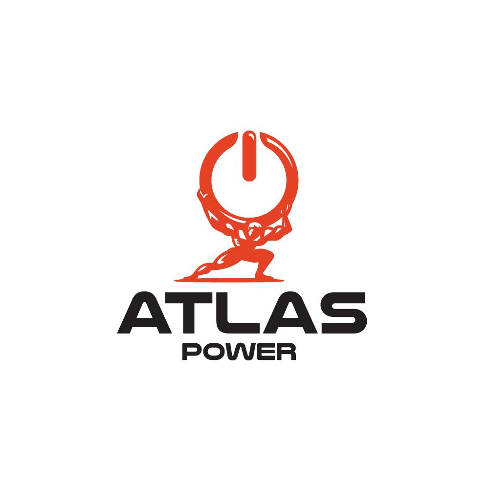 For sale atlas power power symbol logo design logo cowboy for Design lago