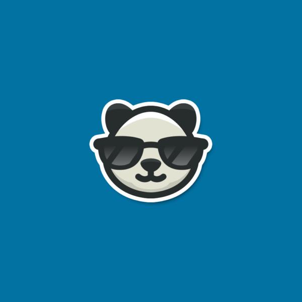 for sale cool panda sunglasses logo design logo cowboy