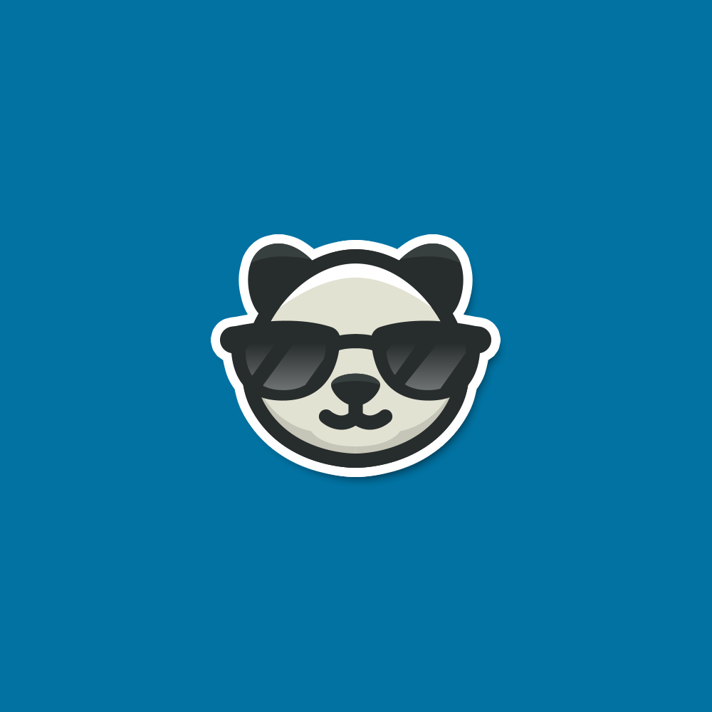 For Sale: Cool Panda Sunglasses Logo Design | Logo Cowboy