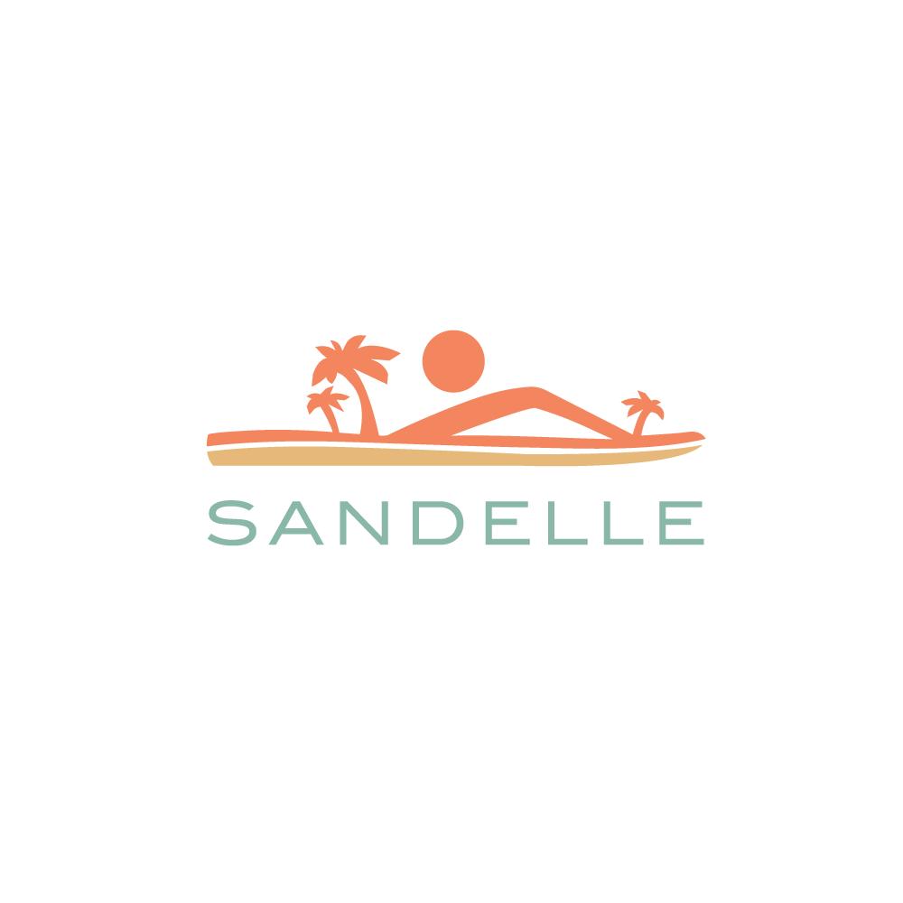 3aeb5ead5c7d0 Logo For Sale—Sandelle Beach Sandal Logo Design – Logo Cowboy