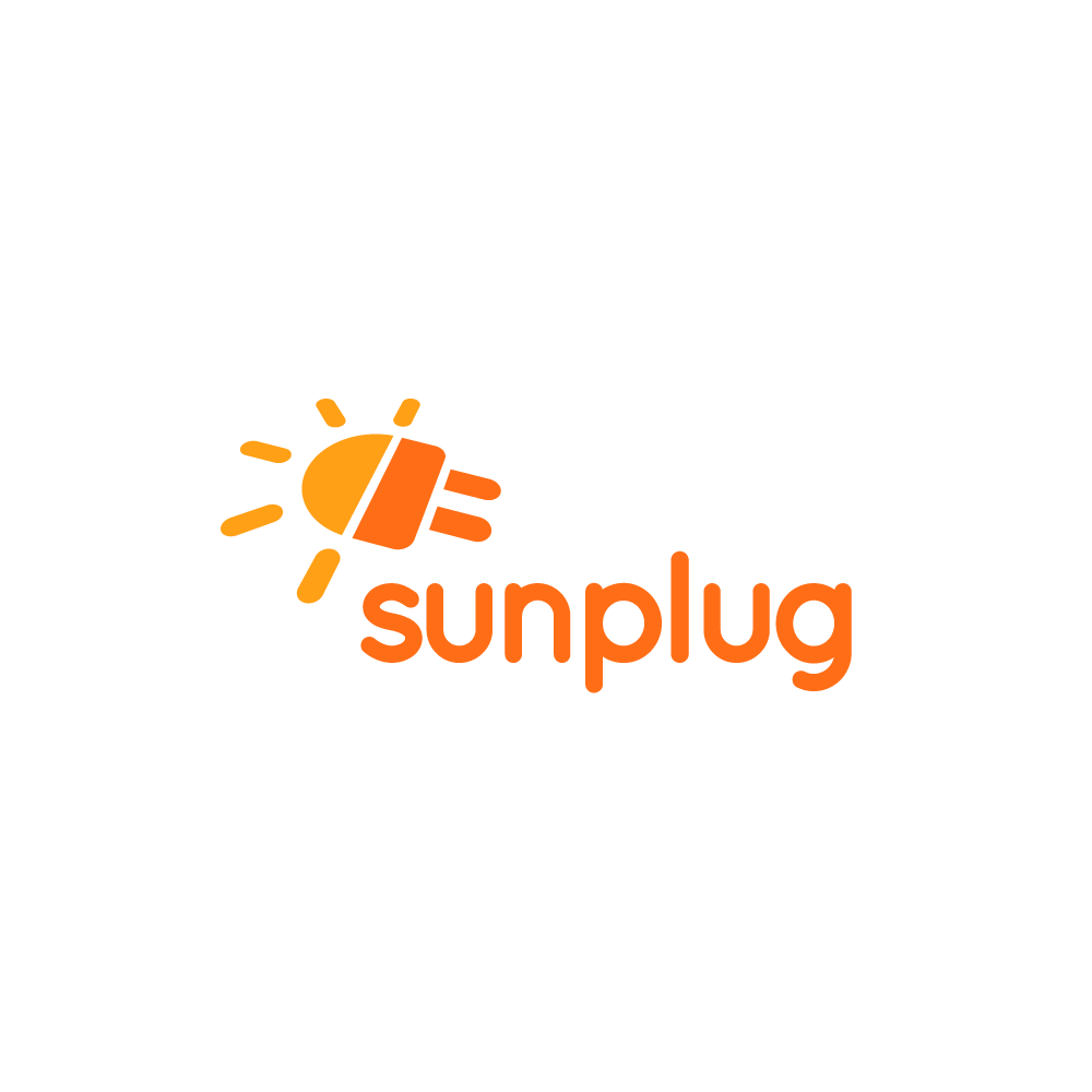 logo for sale sunplug sun and plug solar logo design