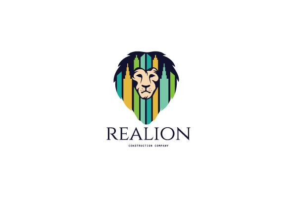 homedesigned by daliafor sale real estate lion logo design