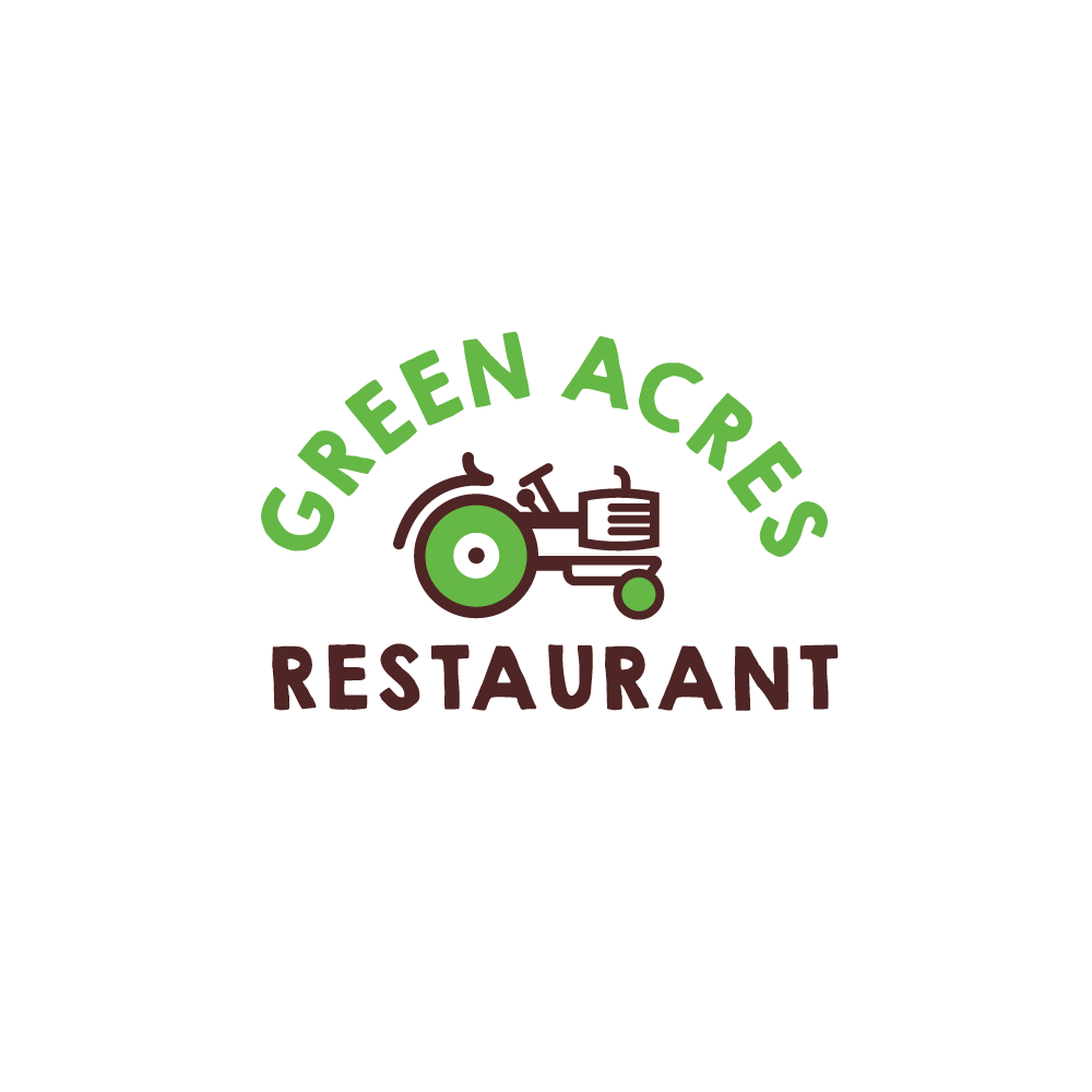 for sale � green acres restaurant tractor logo � logo cowboy
