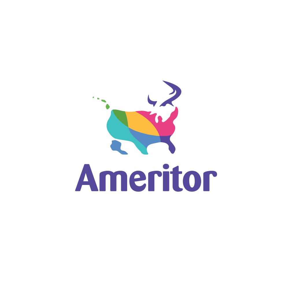 For Sale Ameritor Usa Map Bull Logo Logo Cowboy