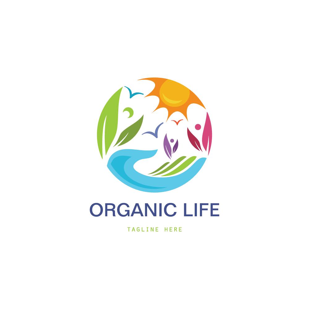 For Sale: Organic Life Logo Design Logo Cowboy
