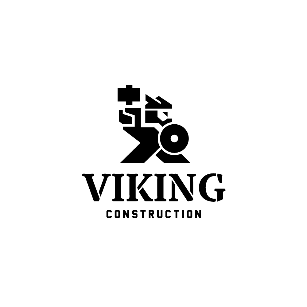 For Sale Viking Construction Logo Design